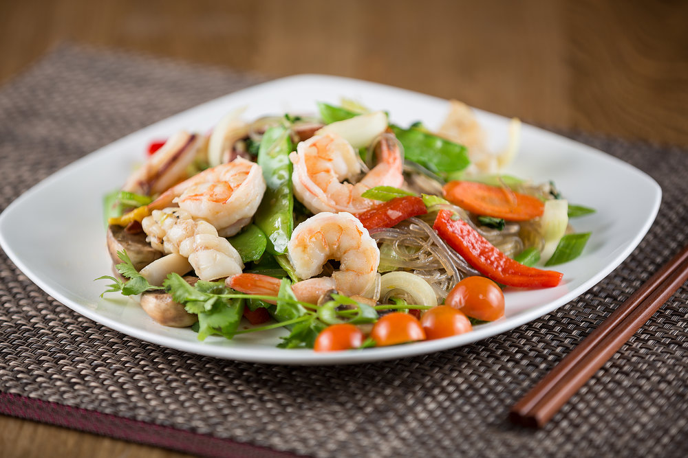 Seafood Glass Noodle Stir Fried