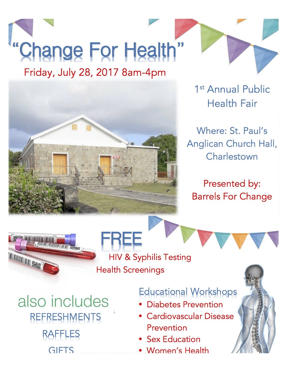 The first annual health fair will focus on educating and providing medical services to citizens who do not have access to these resources on a daily basis.