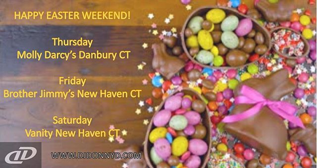 Happy Easter!!! Come enjoy the holiday weekend with us ! #easter #dj #music #openformat #club #dance #vibe #party #college #newhaven #drinks #good #cutekitten