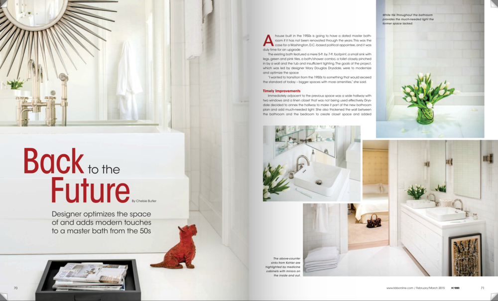 Kitchen & Bath Business Magazine  February/March 2015 Issue Drysdale Design Associates