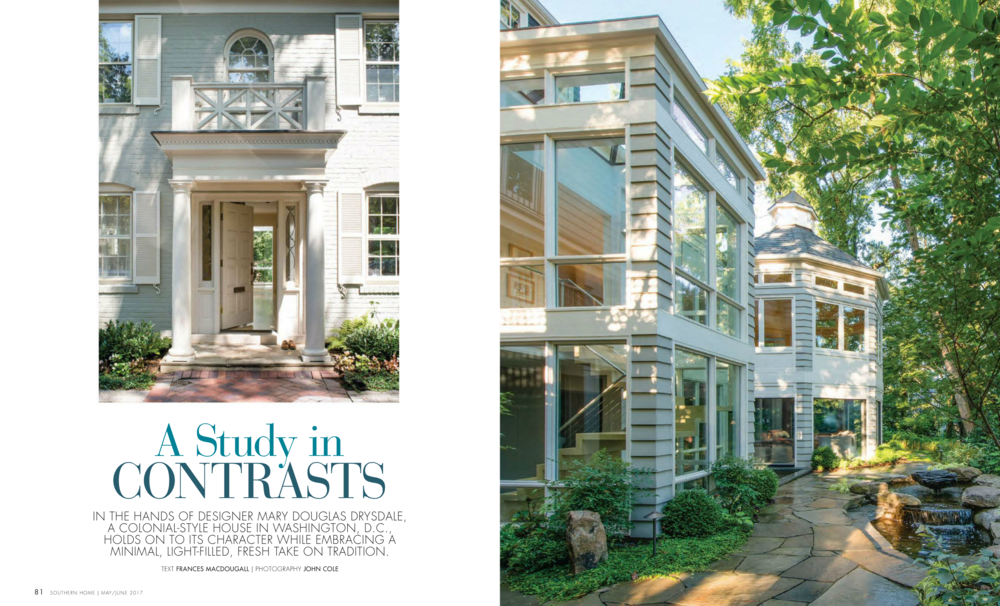 Southern Home Magazine  May/June 2017 Issue Drysdale Design Associates
