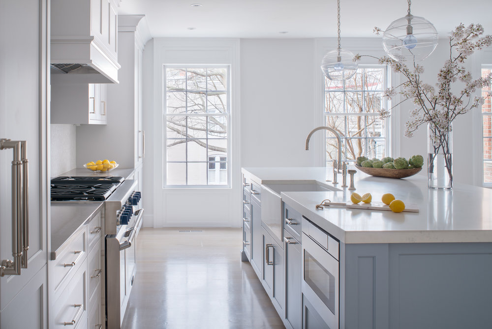 Transitional Blue Kitchen  Jennifer Gilmer Kitchen & Bath Washington, DC