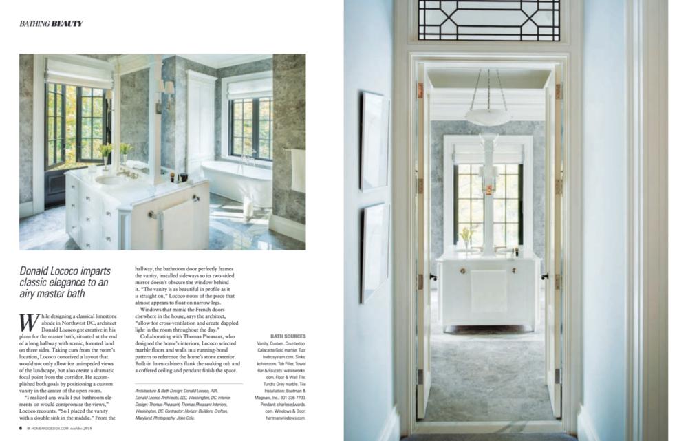 Home & Design Magazine  November/December 2018 Donald Lococo Architects