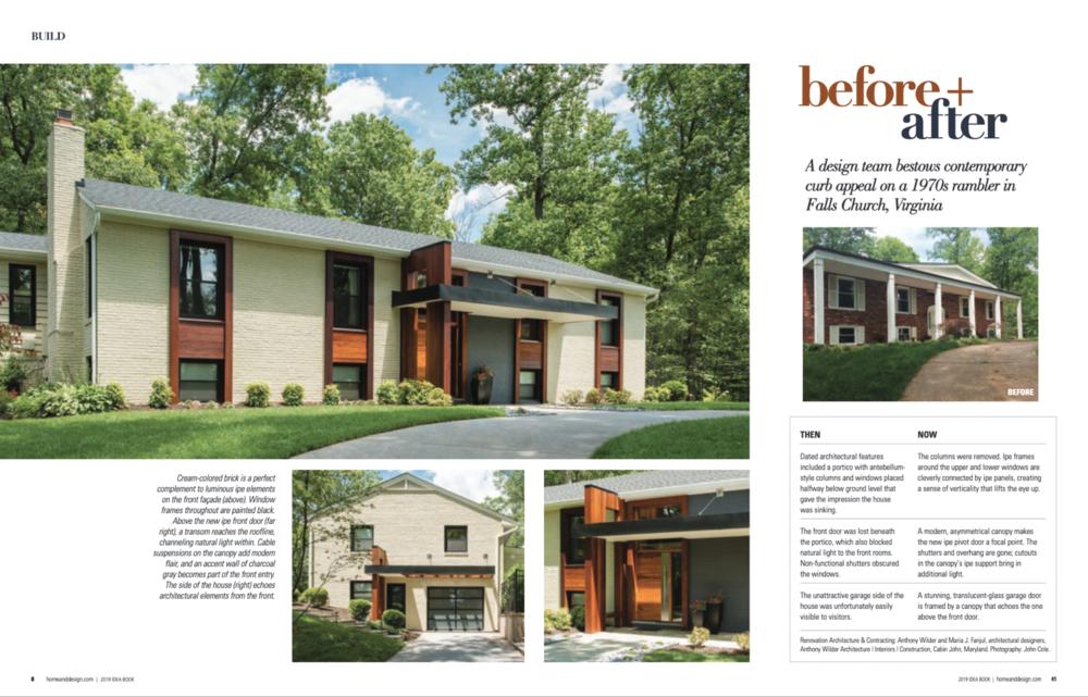 Home & Design Magazine  Ideabook 2019 Anthony Wilder Design Build