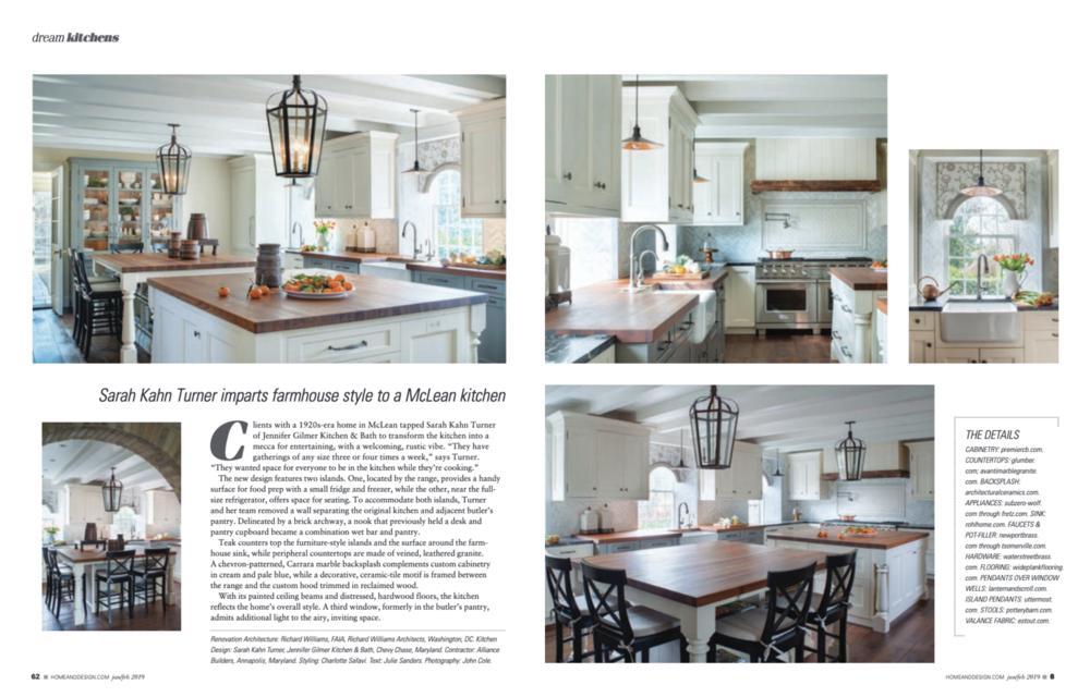 Home & Design Magazine  January/February 2019 Issue Jennifer Gilmer Kitchen & Bath