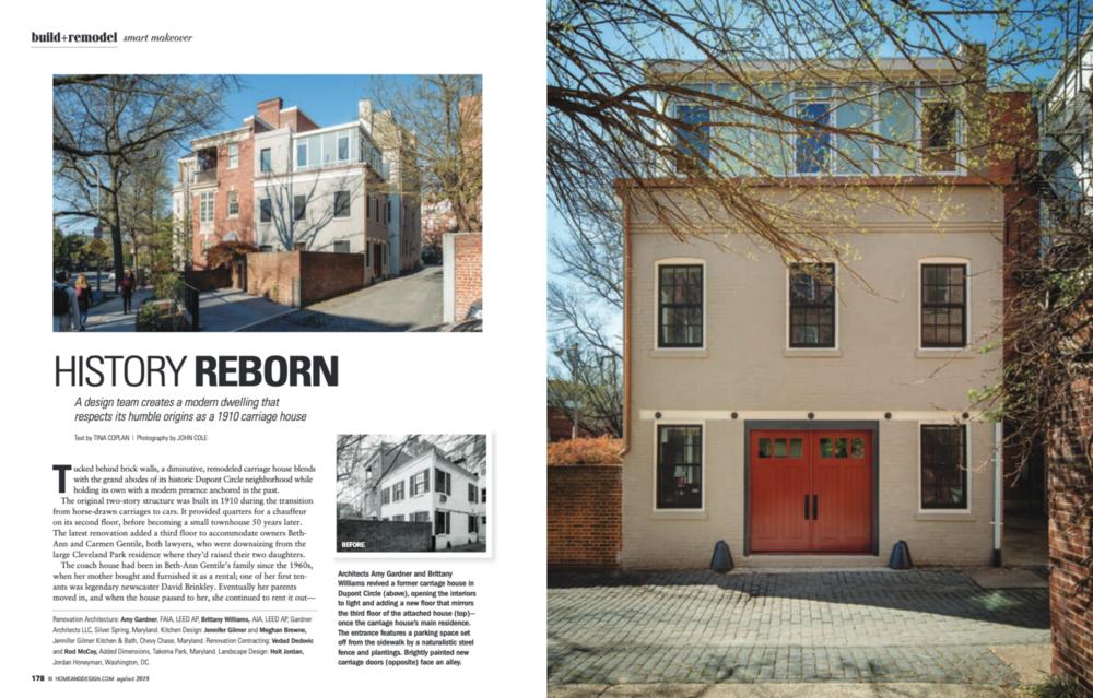 Home & Design Magazine  September/October 2018 Gardner Architects