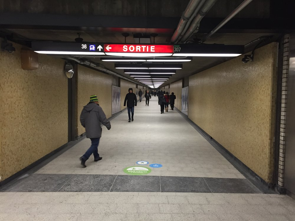 Tunnels in Montreal in January 2016