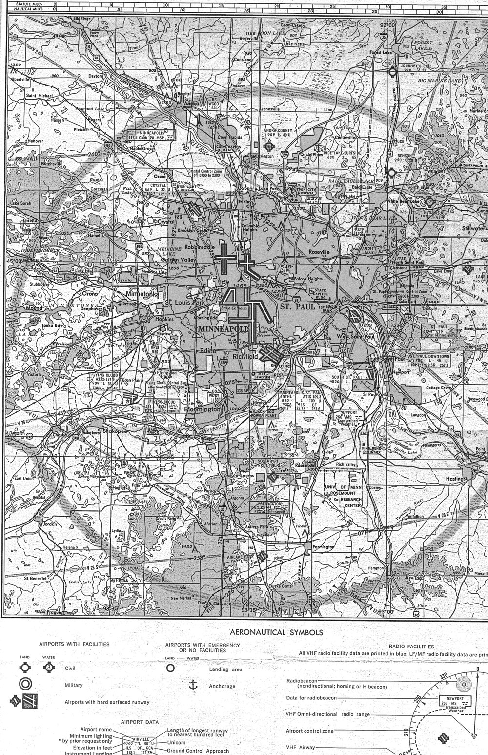 A preliminary aeronautical chart from 1974