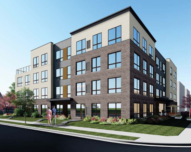 A 49 unit apartment project with 20 parking spaces in the Central neighborhood