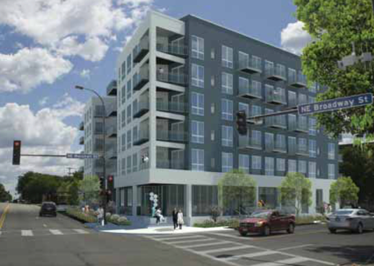 A 98 unit apartment project with 49 parking spaces in Northeast