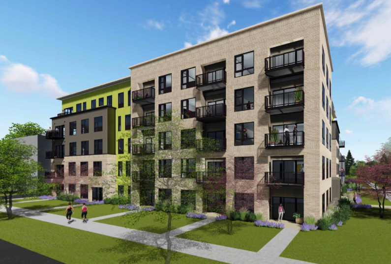 A 74 unit apartment project with 45 parking spaces in Whittier