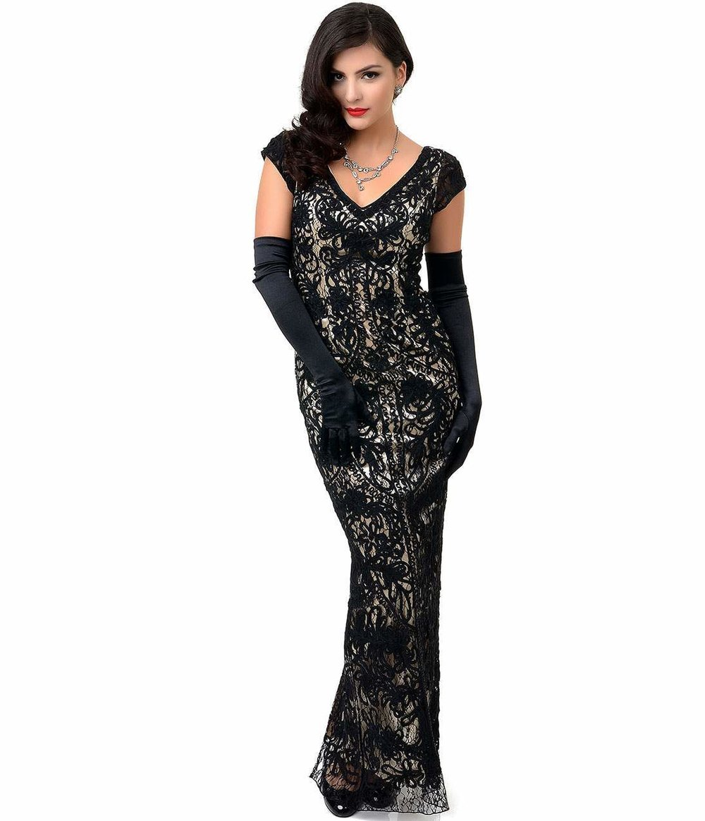 1930s_Style_Black_Nude_Lace_Cap_Sleeve_Fitted_Gown_1.jpg