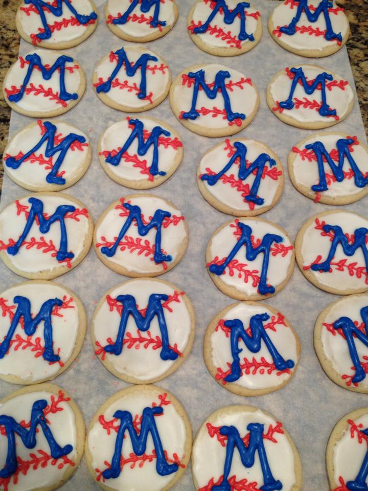 The 1965 Mitchell Panthers Little League team celebrated their 50 year reunion with commemorative cookies!