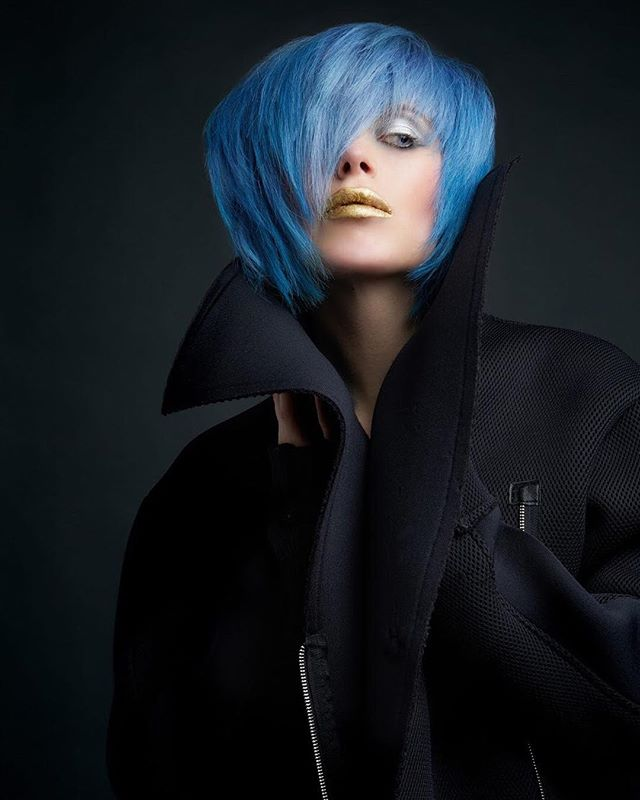 The amazing @nickpaganohairdesign and @cherylemakeup #Goldwellapprovedus #color #hair #haircolor #hairlove #newyork #brooklyn #studio #lighting #andreaurbinati #dark #moody #photoshoot #fashion #inspiration haircut