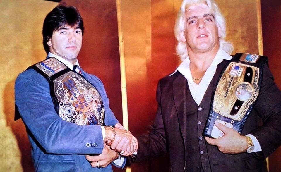 Rick Martel (AWA World Champion) / Ric Flair (NWA World Champion)
