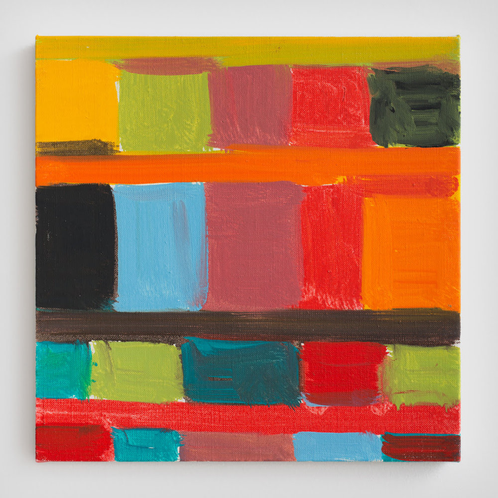 Stanley Whitney. Untitled, 2011, Oil on linen, 12 x 12 inches