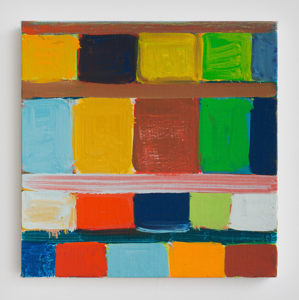 Stanley Whitney. Untitled, 2010, Oil on linen, 12 x 12 inches