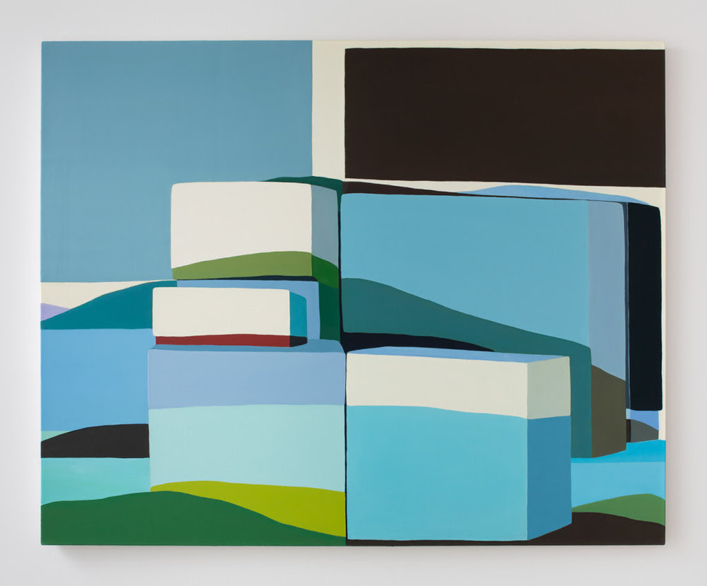 Louise Belcourt.  Mound #13 , 2012, Oil on canvas, 42 x 52 inches