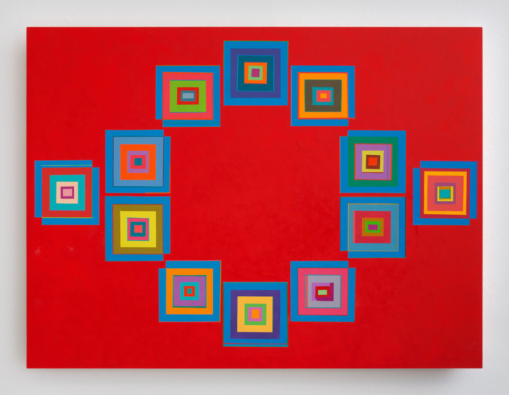 Marilyn Lerner. Squaring, 2014, Oil on wood, 30 x 24 inches