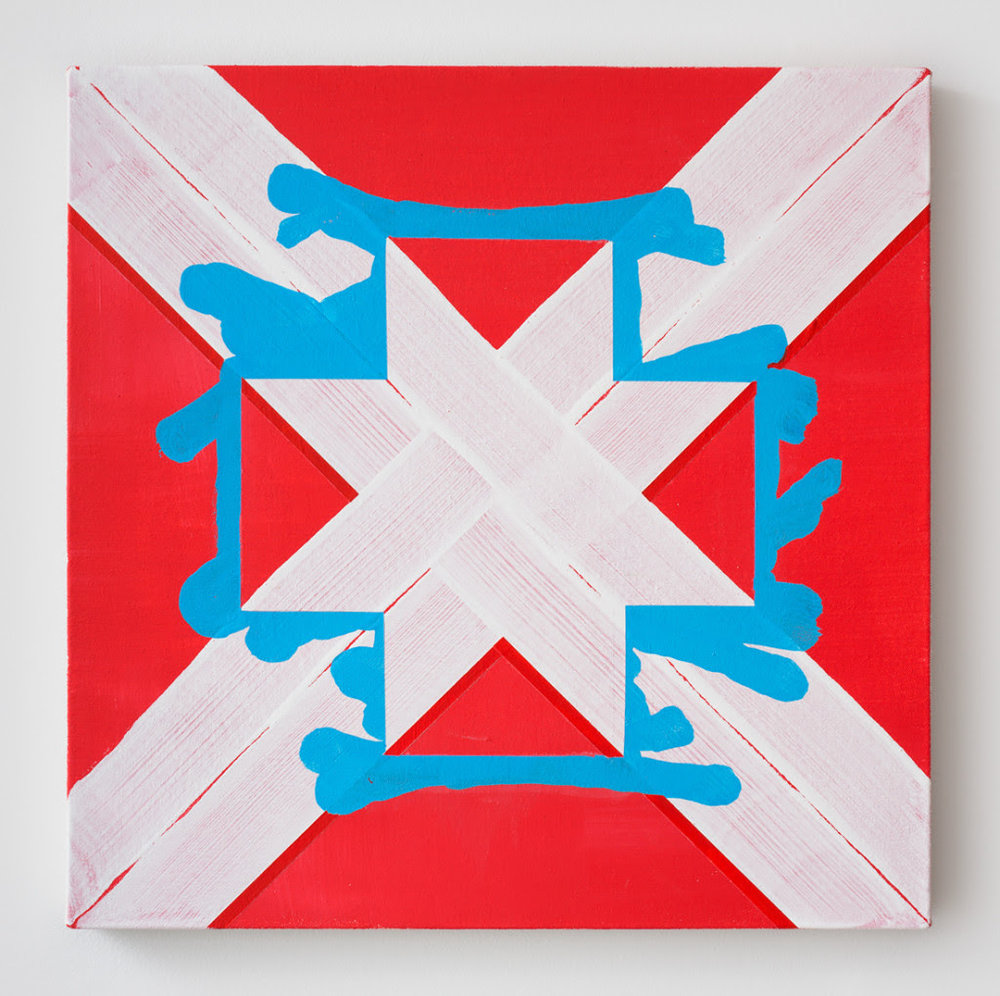 Gary Stephan.  Untitled , 2015, Acrylic on canvas, 20 x 20 inches