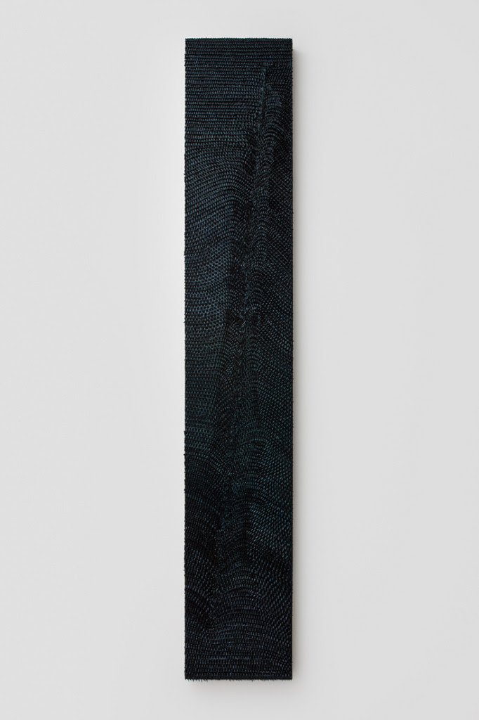 Nocture II, 2014, Oil on linen on wood panel, 54 x 9 inches