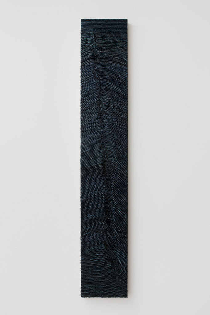 Nocture I, 2014, Oil on linen on wood panel, 54 x 9 inches