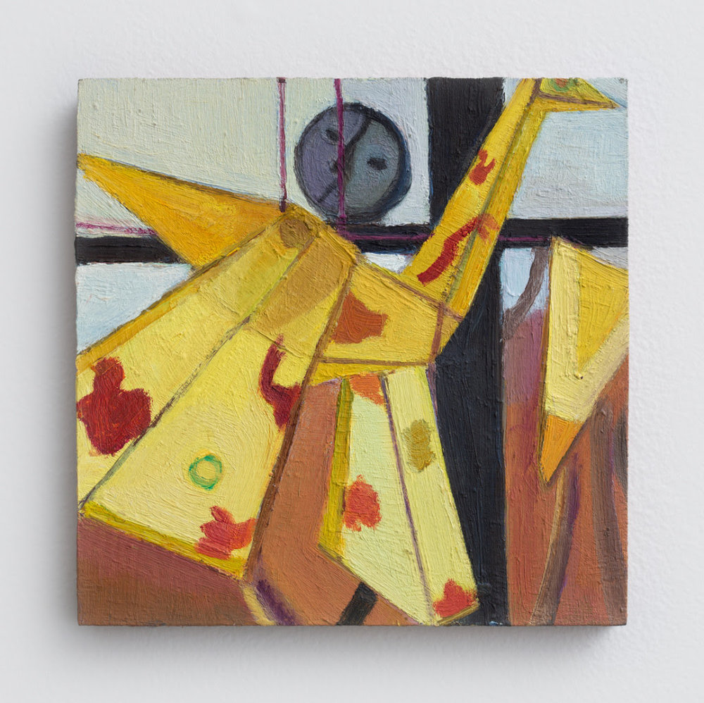 Emily Zuch. Bird Kite, 2014, Oil on wood, 6.5 x 6.5 inches