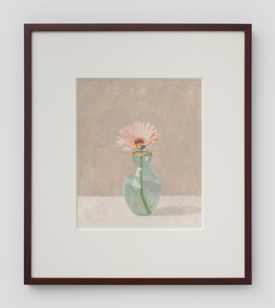 Susan Jane Walp.  Gerbera I , 2014, Oil on gessoed paper, 11.5 x 10 inches