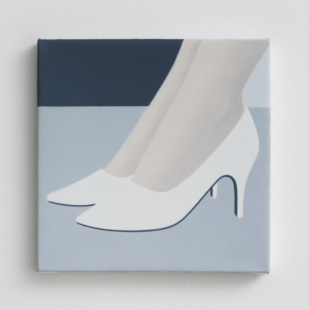 Ridley Howard. Italian Shoes, 2014, Oil on linen, 6 x 6 inches