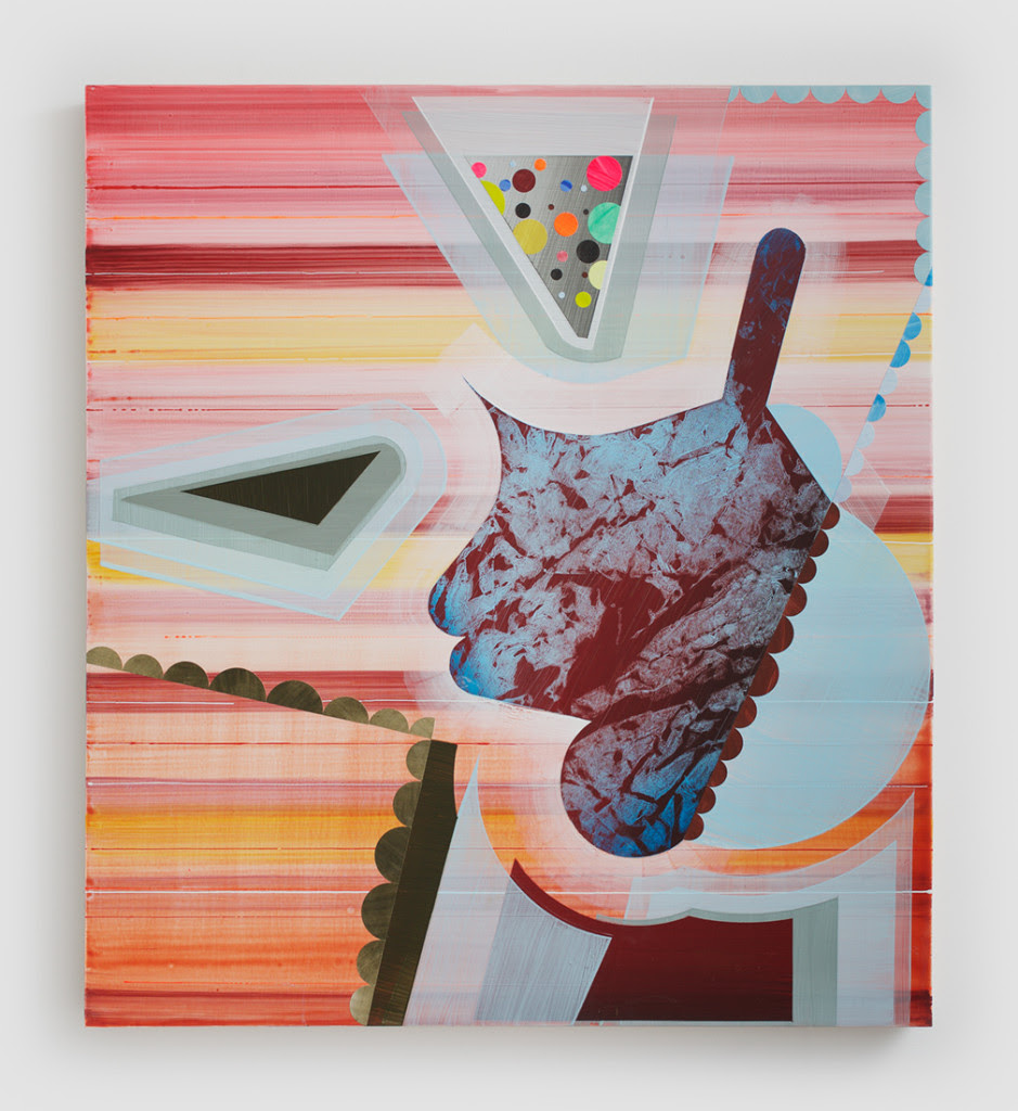 Robert Straight. P-516, 2014, Acrylic, paper, wood panel, 40 x 36 inches