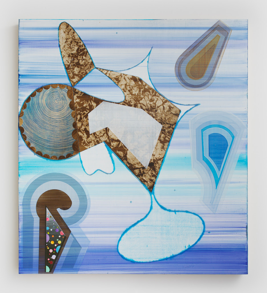 Robert Straight. P-518, 2014, Acrylic, paper, wood panel, 40 x 36 inches