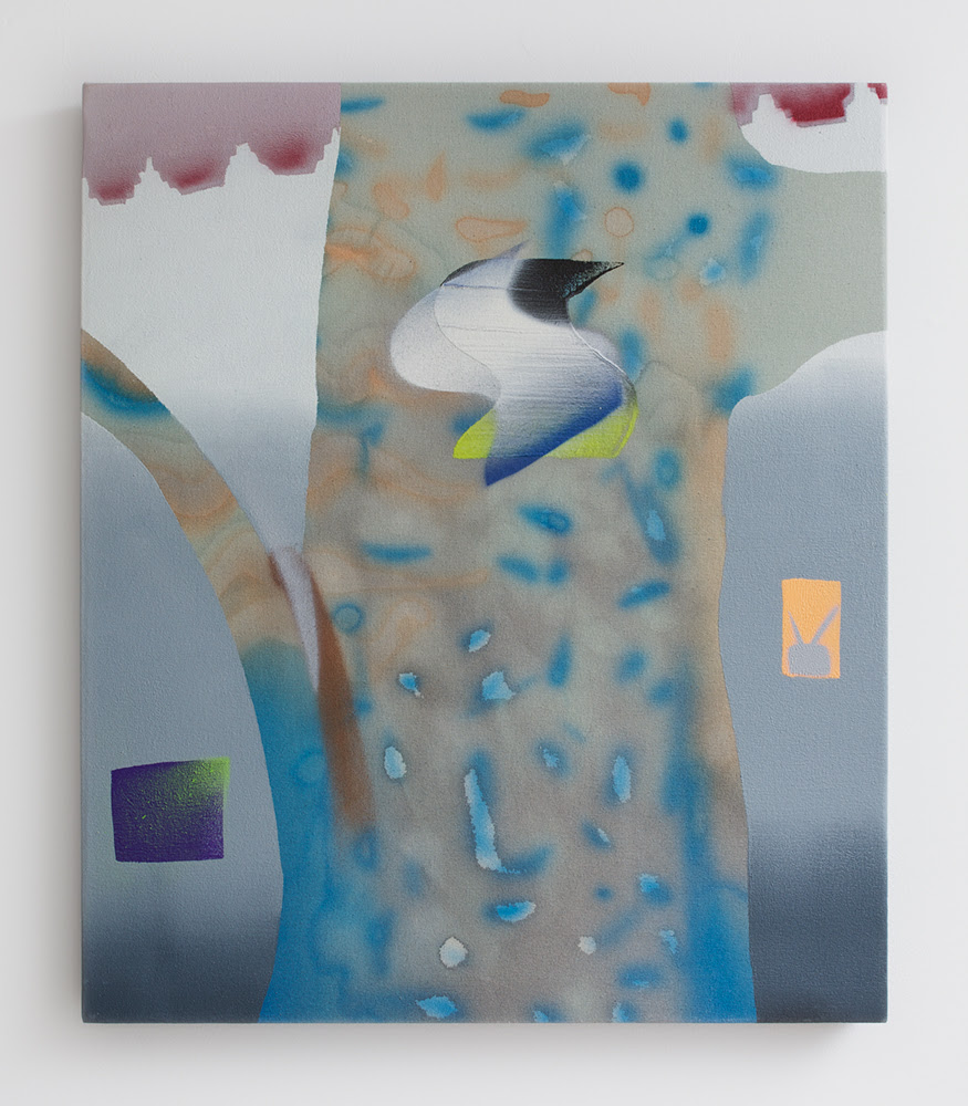 Melissa Brown. Brighton PM, 2013, Oil, spray paint & dye on canvas, 28 x 24 inches