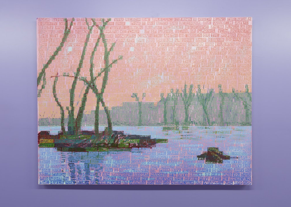 Erik Den Breejen.  The River , 2012, Acrylic on canvas, 42 x 54 inches