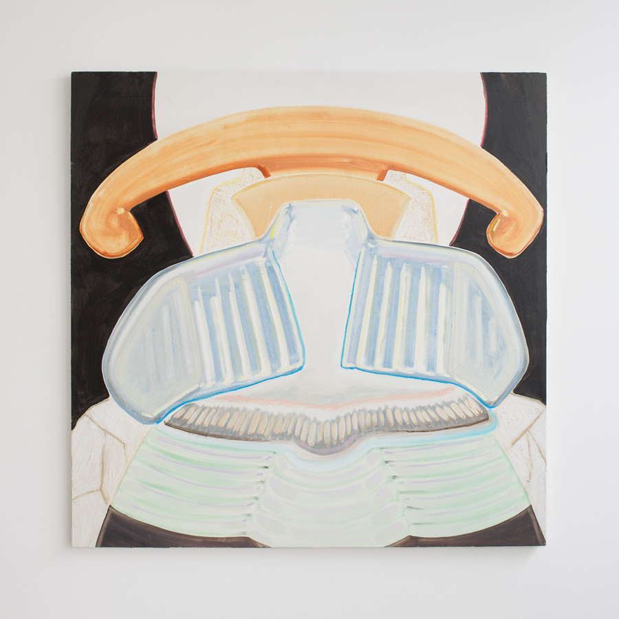 Georgia Elrod.  Landline , 2012, Oil on panel, 30 x 30 inches