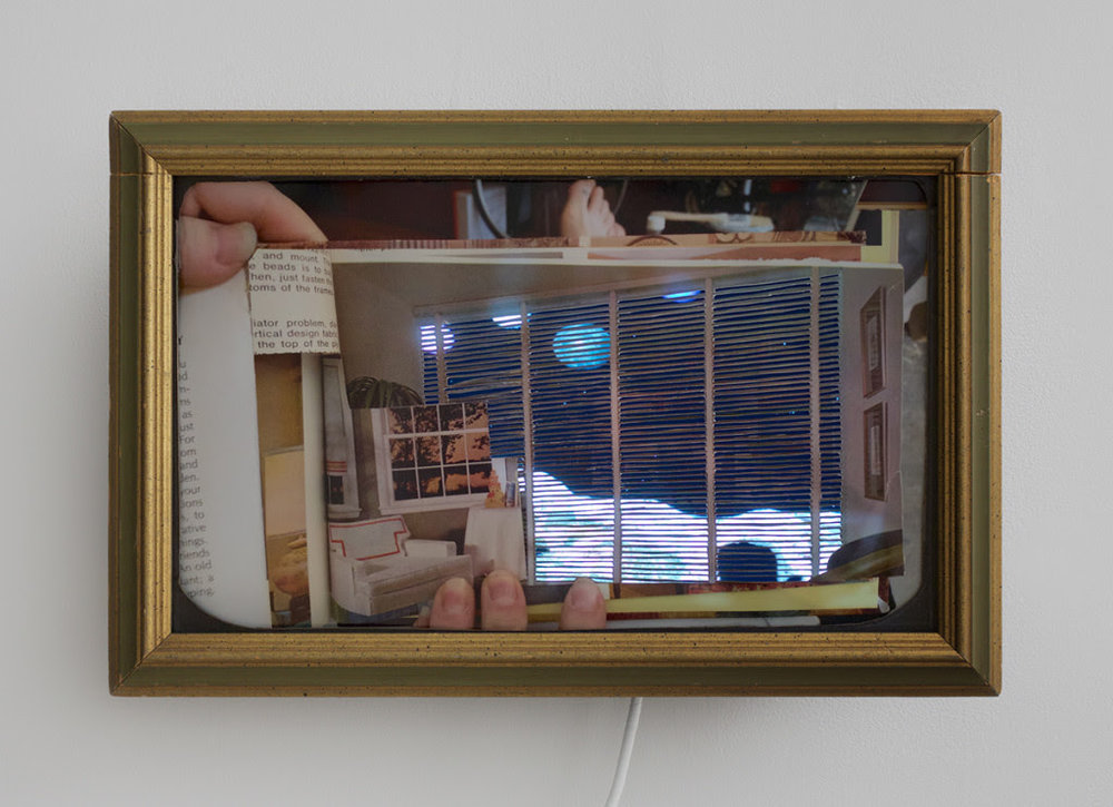 This is what it feels like in The End: Asteroid, 2014, Video, wood, C-print, 17 x 23 inches