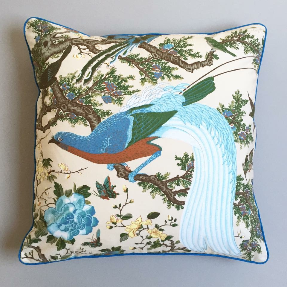 "Vintage Warner Fabrics ""Palace Birds"""
