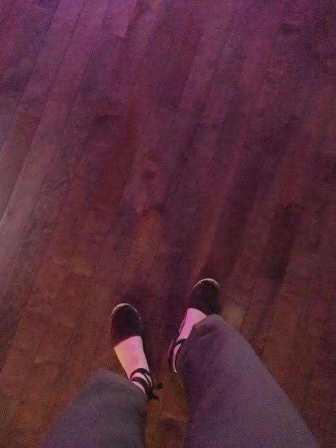 espadrilles on the dance floor