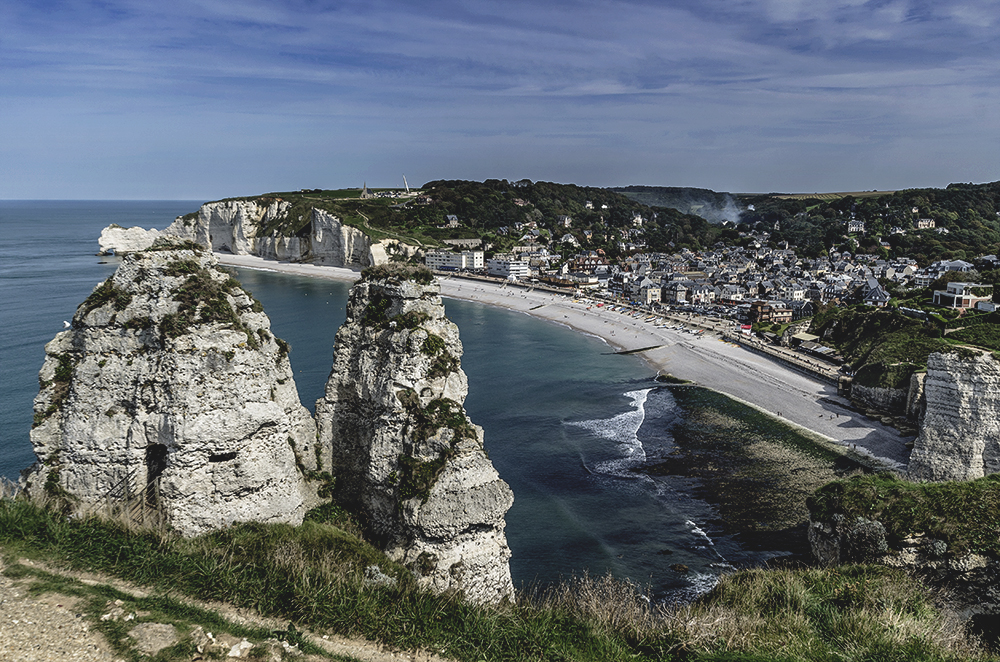 Looking down to Étretat