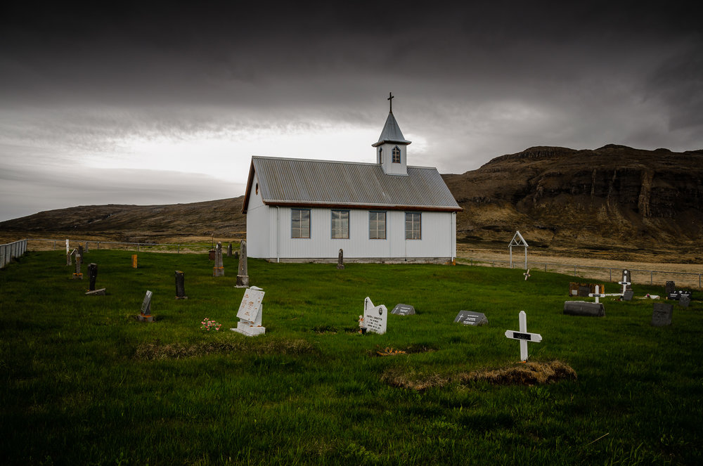 Little and beautiful church in Breiðabólstaðar on Snæfellsnes
