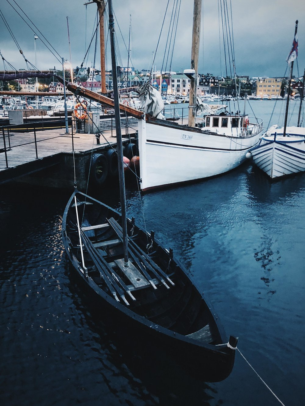 Old, new, big and small… all types of boats in the harbors of Tórshavn.
