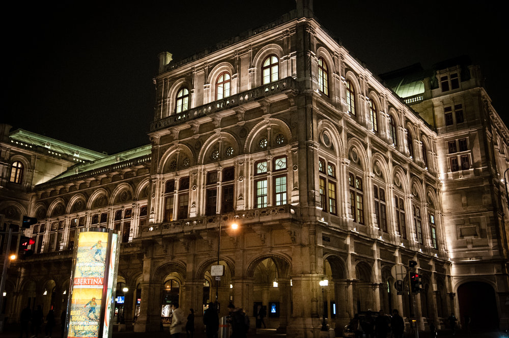 Opera House at Night, Vienna