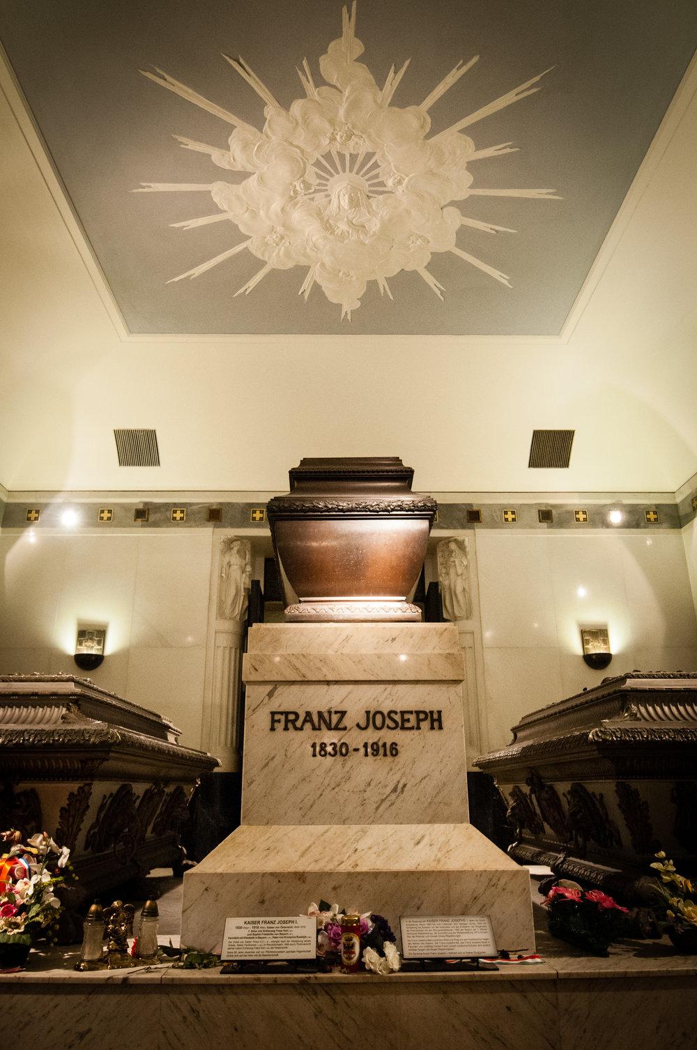 Sarcophagus of Emperor Franz Joseph, Imperial Crypt, Vienna