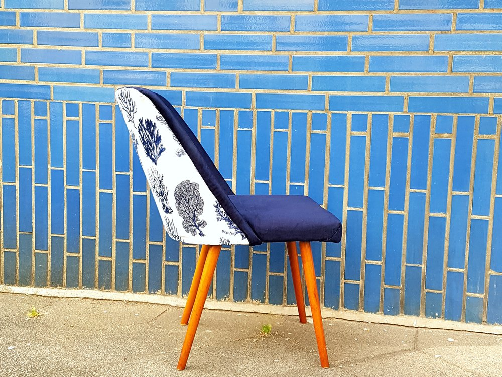 blue accent chair cocktail chair