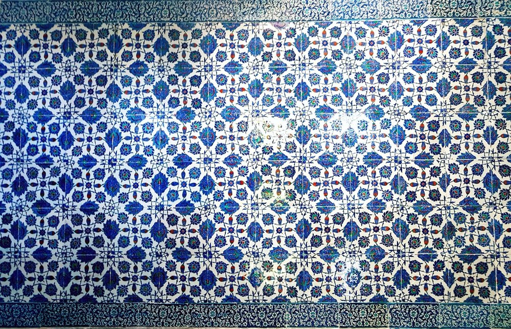 blue mosaics in istanbul