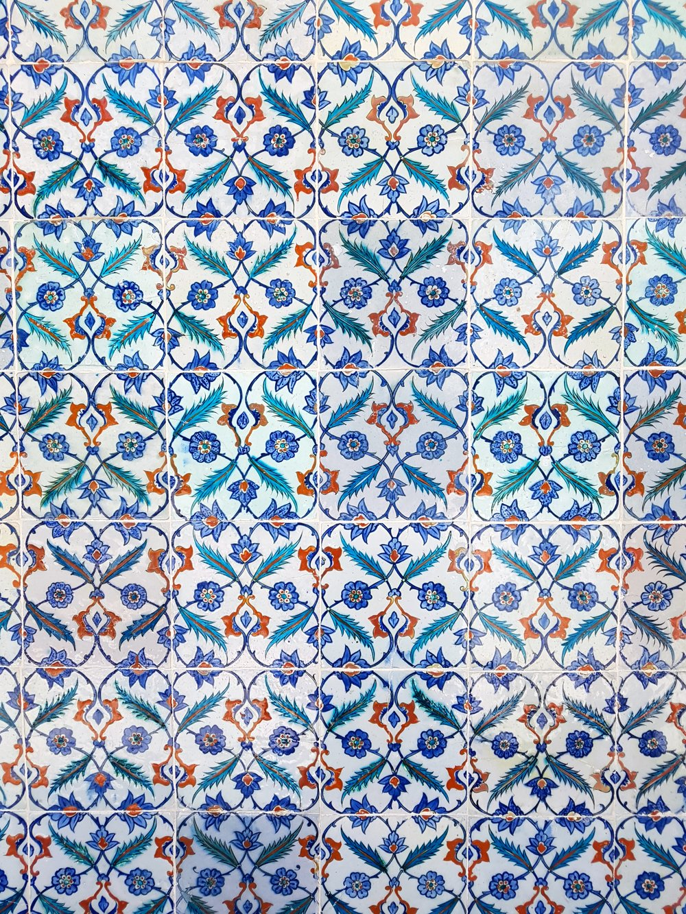 blue wall tiles in Istanbul