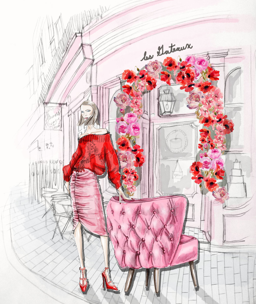 neeshe-new-york-illustrator-lynda-sparshatt-pink-accent-chair .jpg