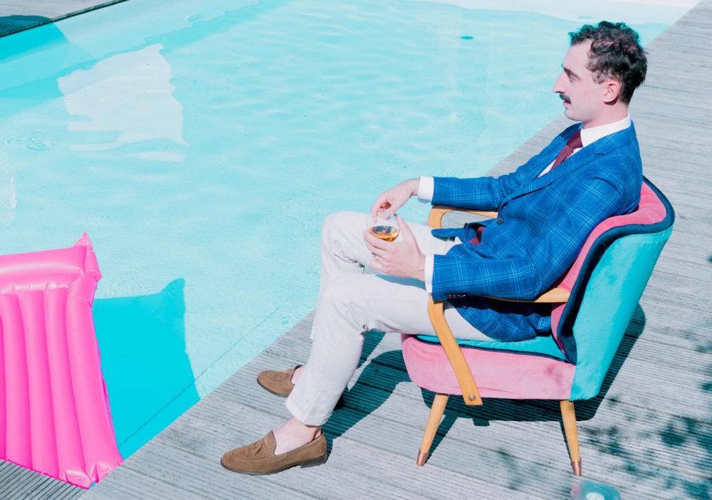 Lynda Sparshatt chair in the style of David Hockney