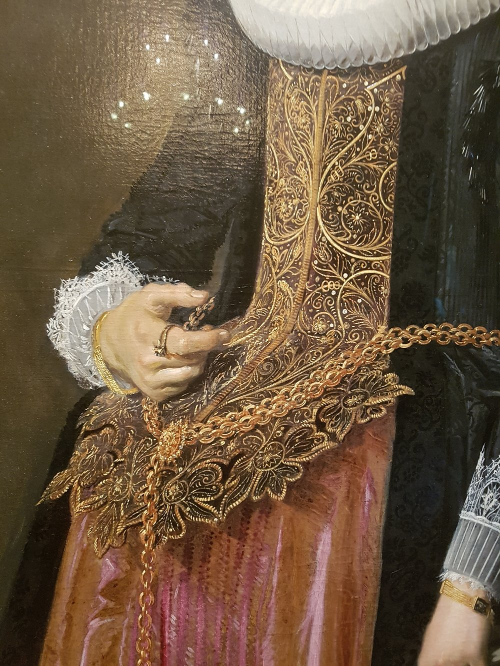 inicredible brocade detail in dutch master paintings