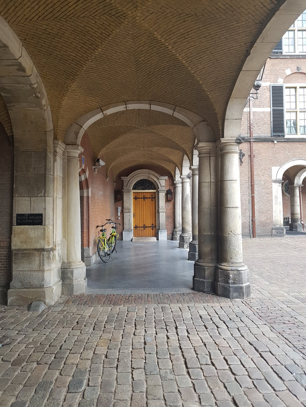 corridor of stone in den haag
