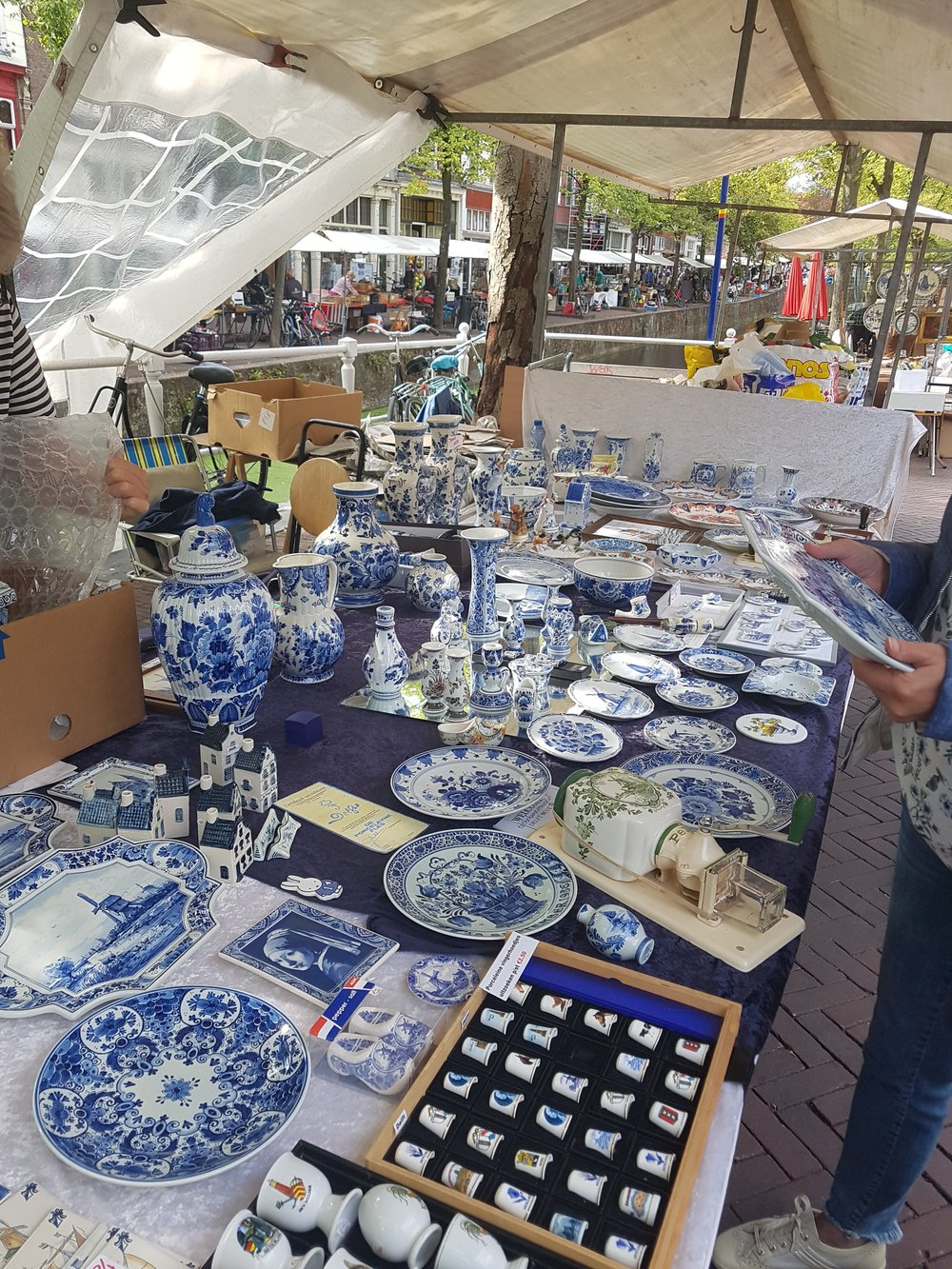 delftware at the market in Delft